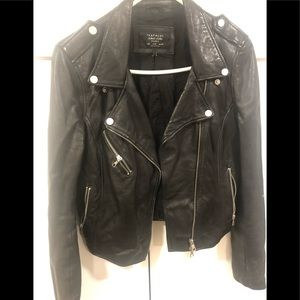 Zaraleather fitted jacket